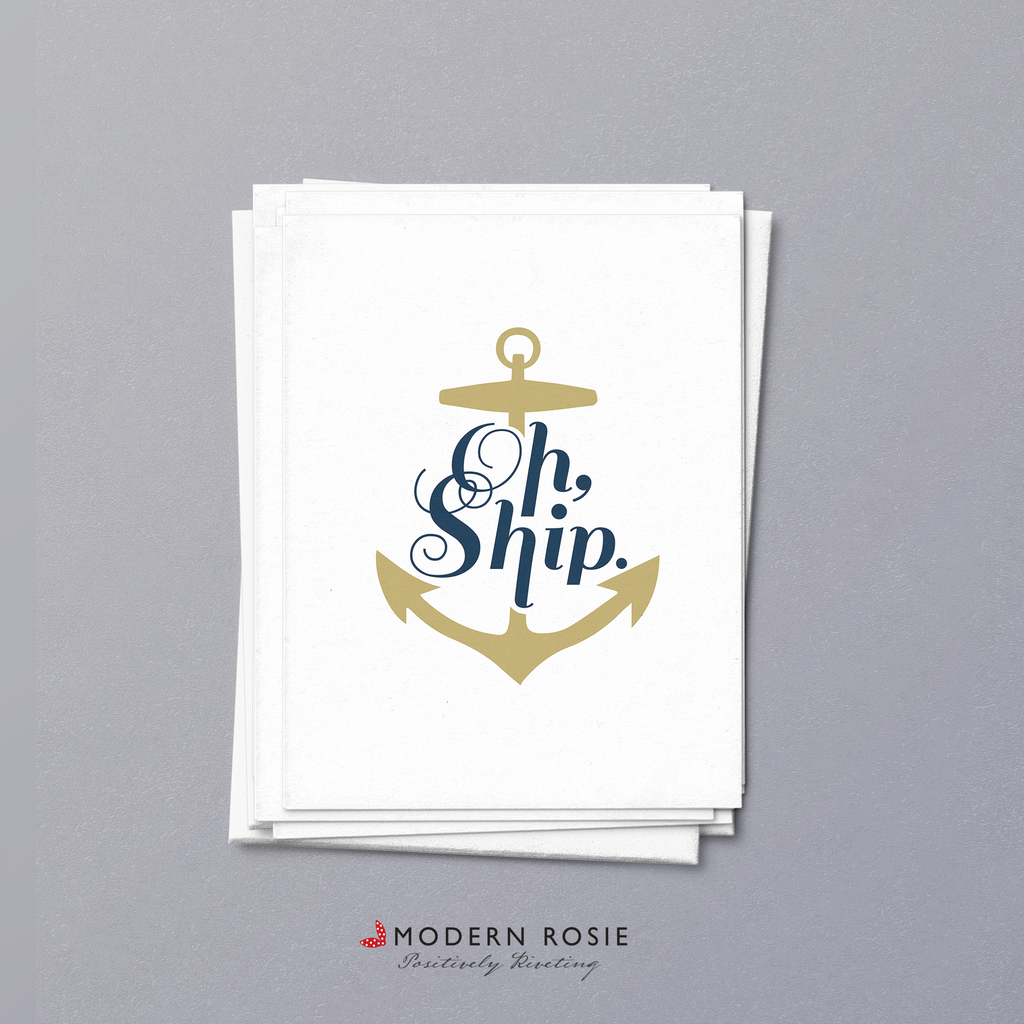 Oh Ship! - 4x5 Folded Card Pack