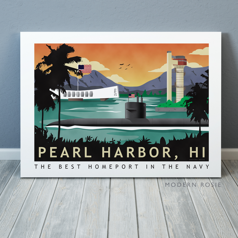Pearl Harbor Submarine Homeport - Art on Canvas