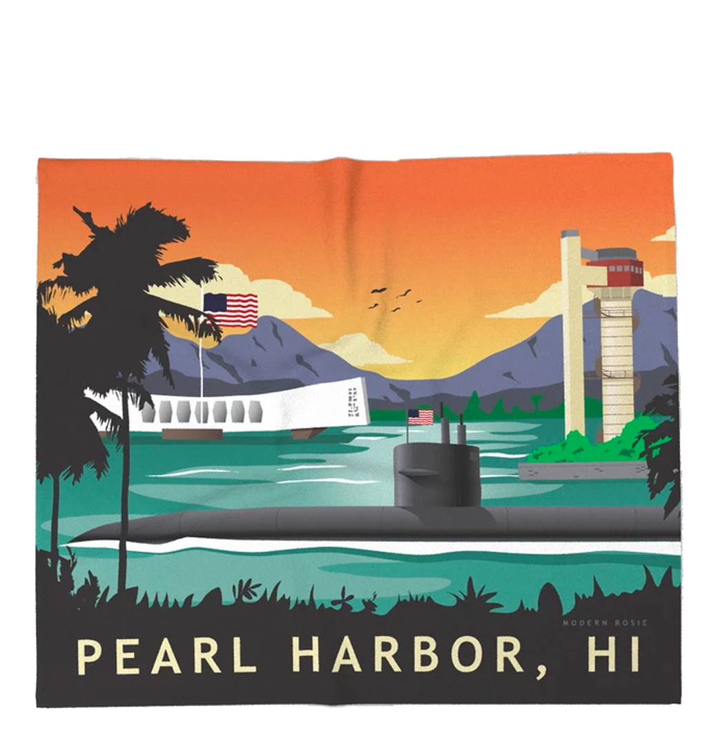 Pearl Harbor Submarine Super Soft Fleece Blanket