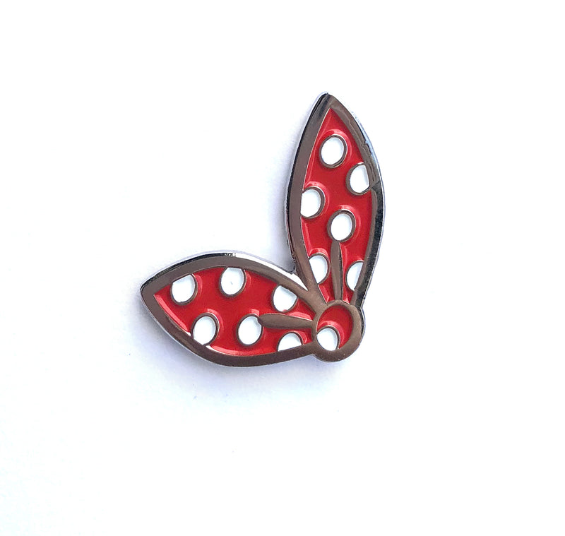 "Rosie the Riveter Inspired ""Rosie's Scarf"" Enamel Lapel Pin"