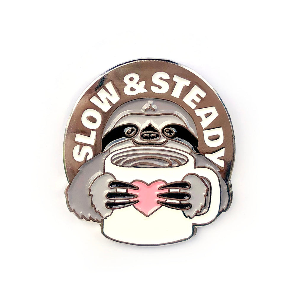 The Slow and Steady Sloth Pin