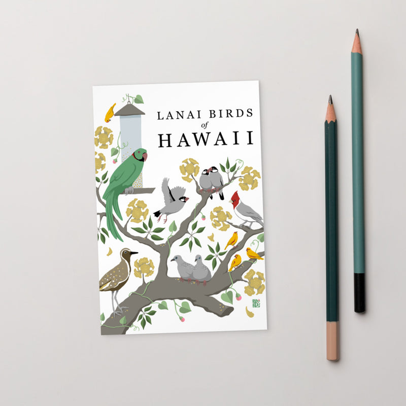 Hawaii Birds Art Card
