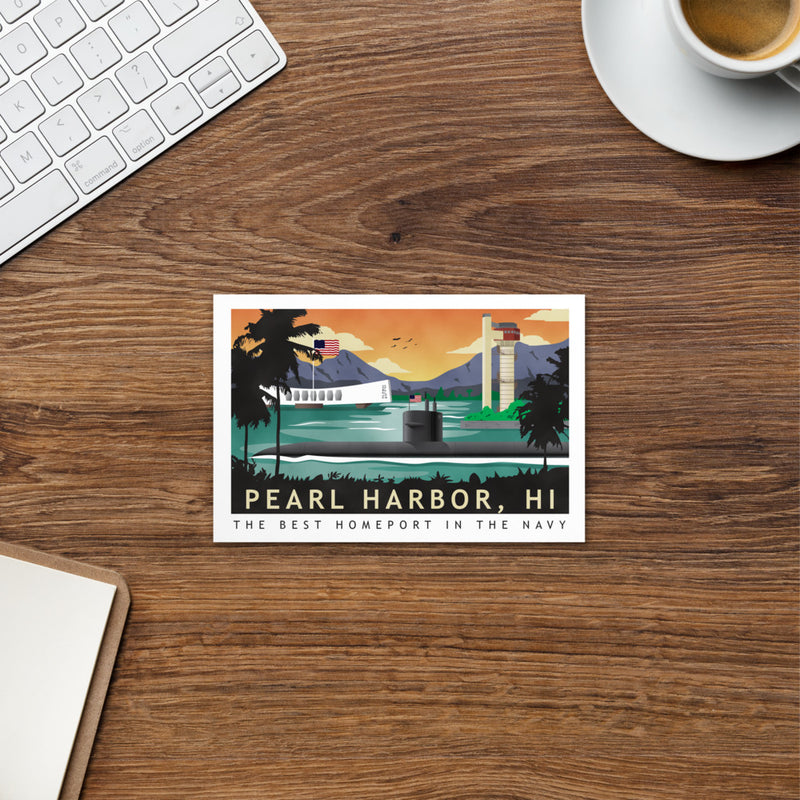 Pearl Harbor Submarine Homeport - Art Card