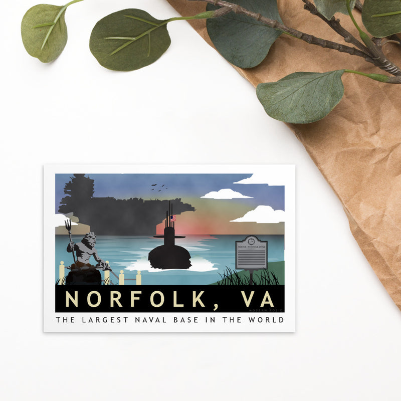 Norfolk Submarine Homeport - Art Card