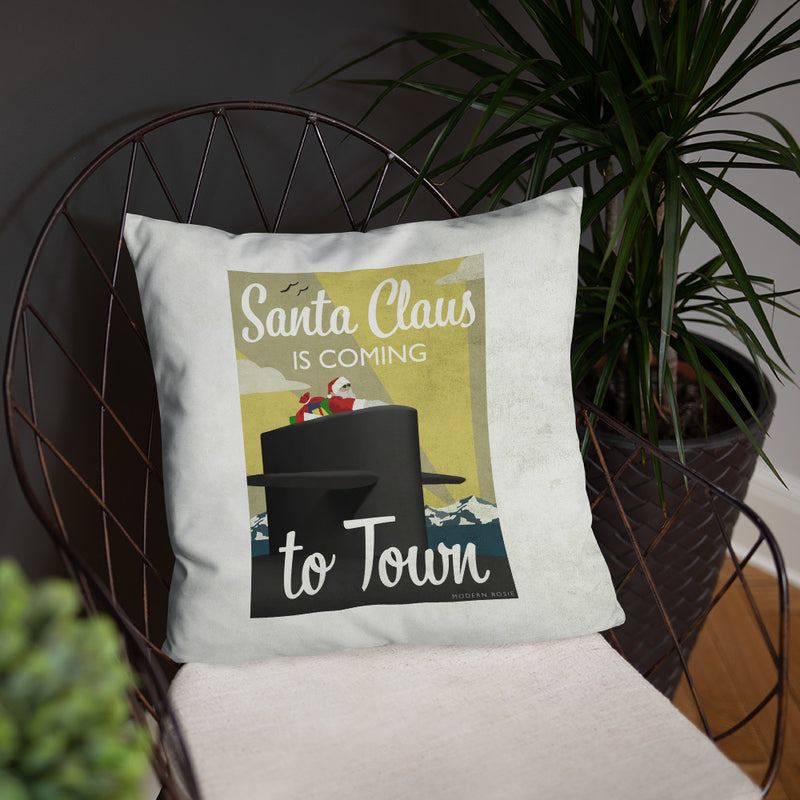 Submarine Santa Throw Pillow