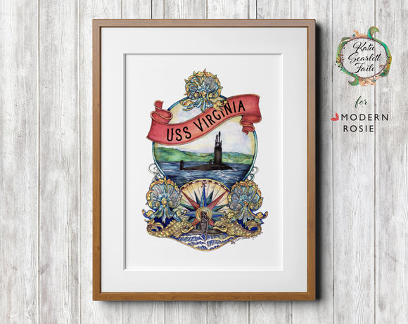 Submarine Charming - Art Print from Modern Rosie