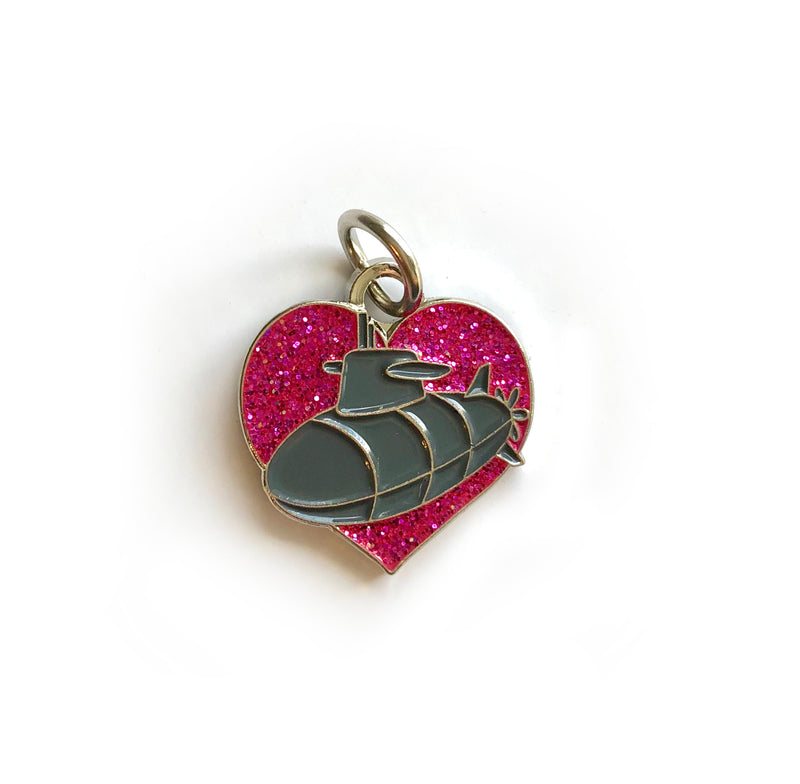 Submarine Heart Charm