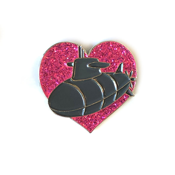 Submarine Heart - Enamel Lapel Pin