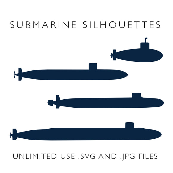 Submarine Silhouettes - Digital Download from Modern Rosie