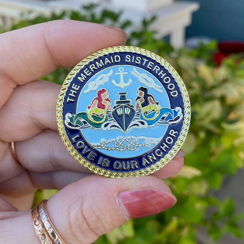 The Surface Mermaid Sisterhood Challenge Coin