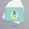 The Sweet Life Pineapple Anchor - 4x5 Folded Card Pack