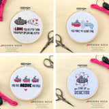 Submarine Sweetheart Cross Stitch Patterns - Set of 4 from Modern Rosie