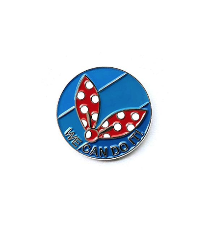 We Can Do It! - Rosie the Riveter Inspired Enamel Lapel Pin