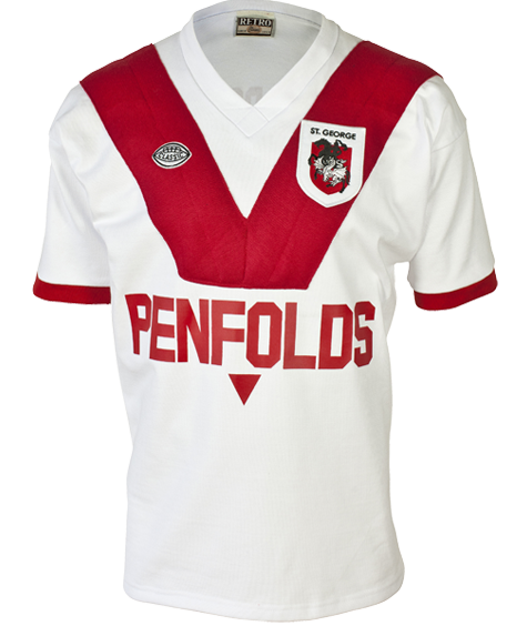 1979 St George Dragons Retro Jersey
