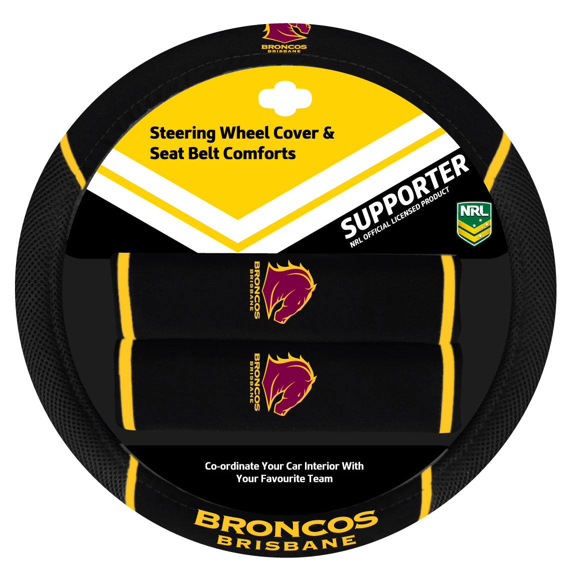 Broncos Steering Wheel Cover