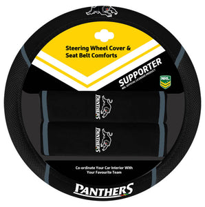 Panthers Steering Wheel Cover
