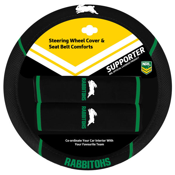 Rabbitohs Steering Wheel Cover