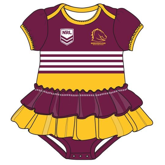 Broncos Footy Suit - Girls - CALL STORE TO ORDER 9891 2655