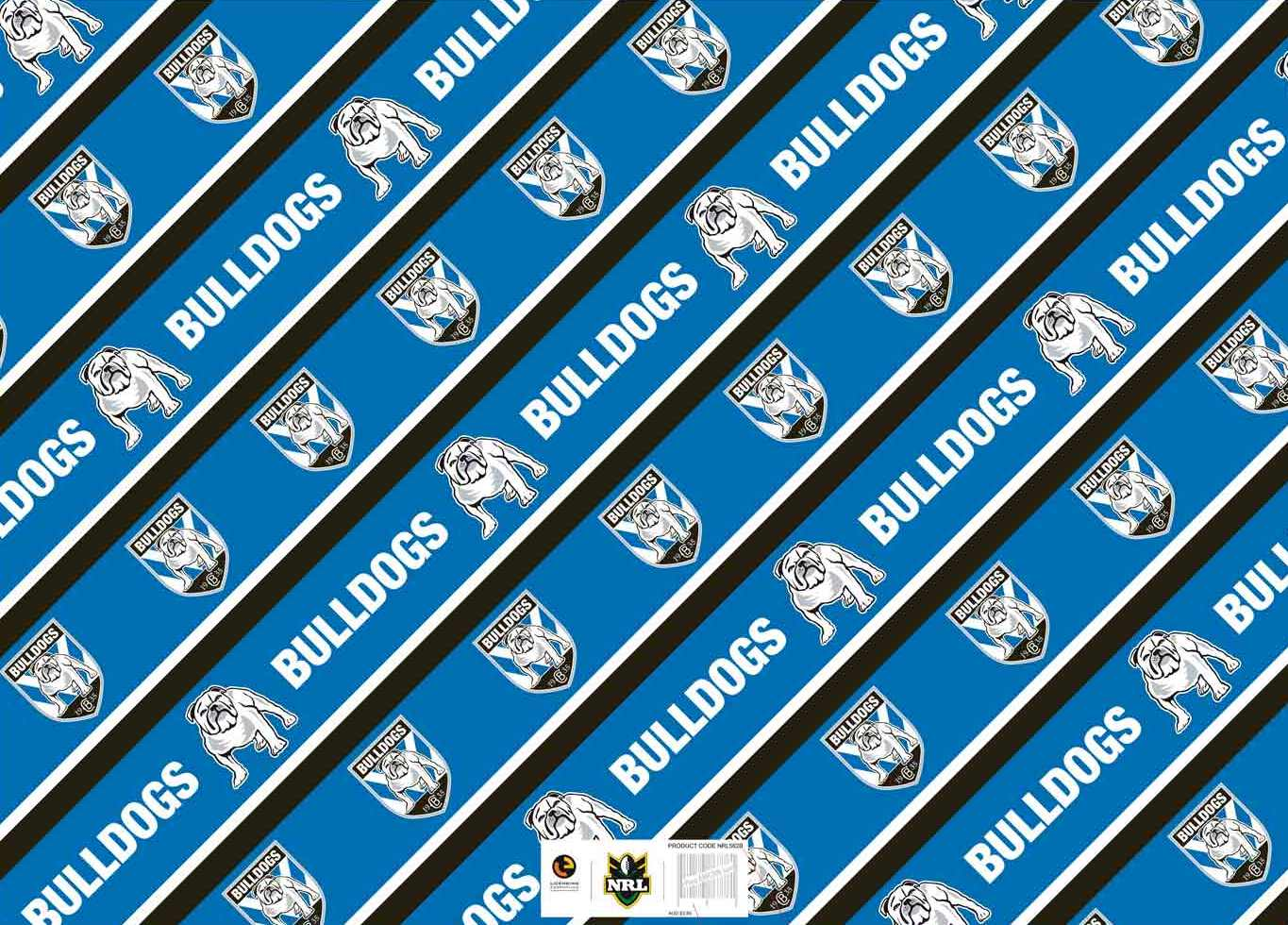 Bulldogs Gift Wrap