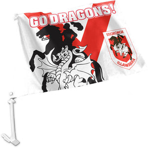 Dragons Car Flag