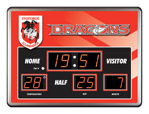 Dragons Scoreboard Clock