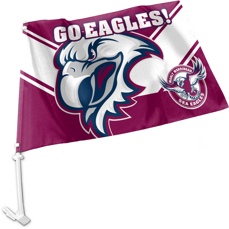 Sea Eagles Car Flag