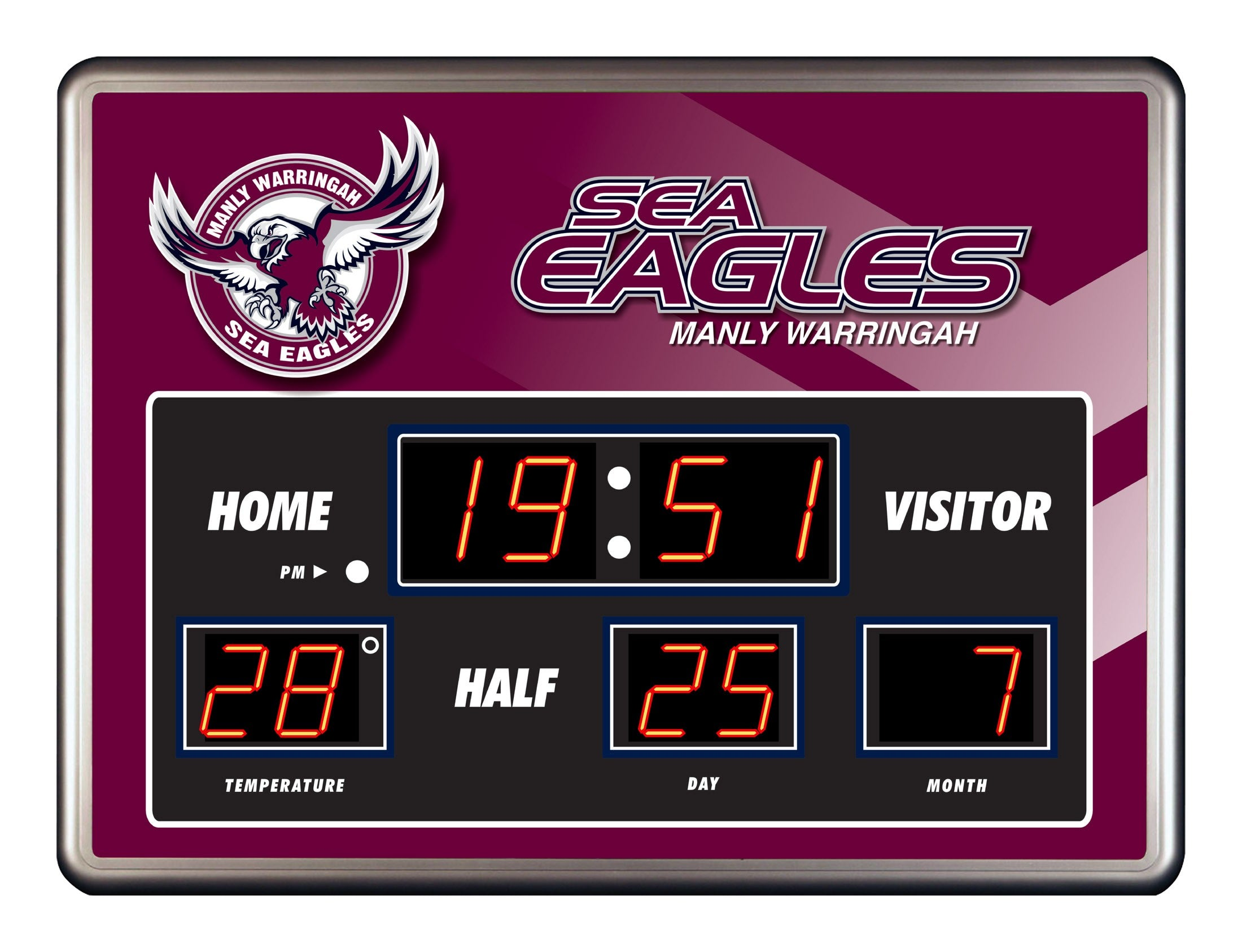 Sea Eagles Scoreboard Clock