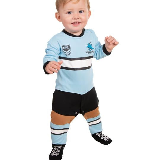 Sharks Footy Suit (Full Length) - CALL STORE TO ORDER 029891 2655