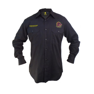 Broncos Long Sleeve Work Shirt (Black)