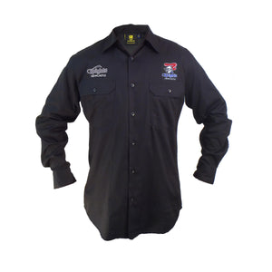 Knights Long Sleeve Work Shirt (Black)