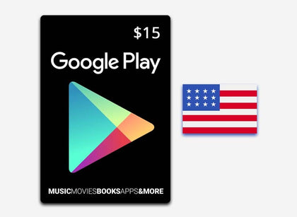 Google Play $15 Gift Card US