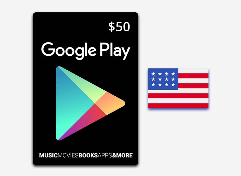 Google Play $50 Gift Card US