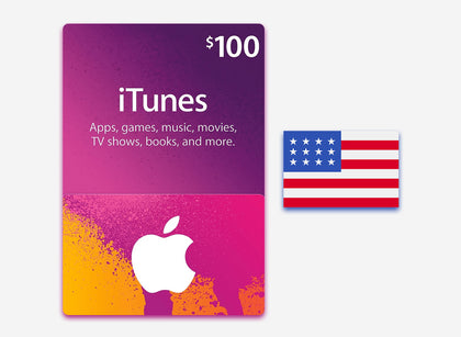 itunes 100 gift card us