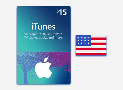 itunes 15 gift card us