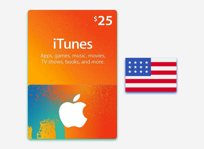 itunes 25 gift card us