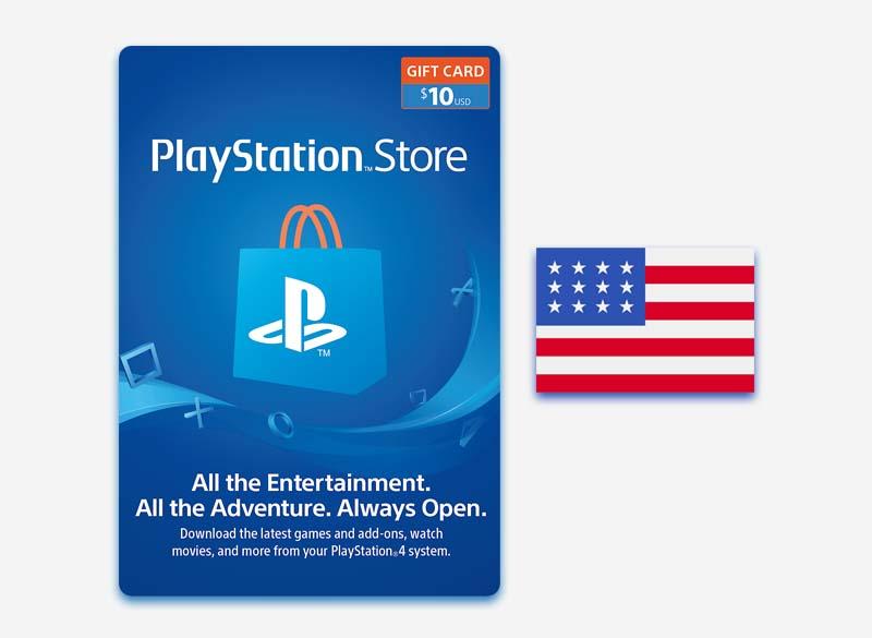 PlayStation Network $10 Gift Card US