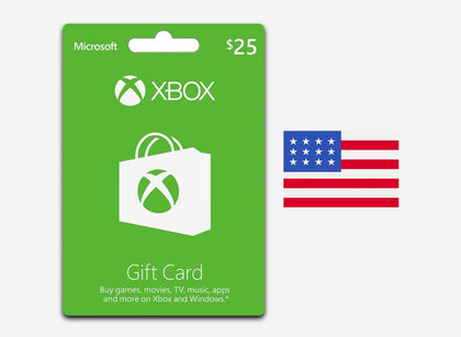 xbox 25 gift card us