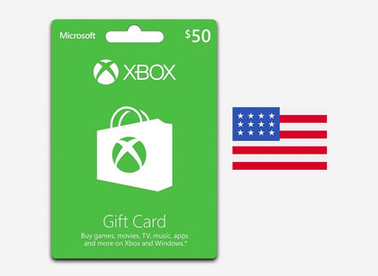 xbox 50 gift card us