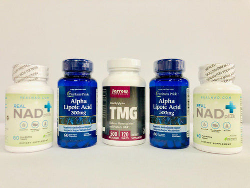 RealNAD+ Liver Health & Blood Sugar Management Package - 60 Day Supply