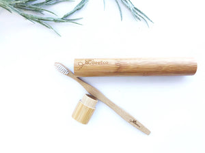 Bamboo Toothbrush with Bamboo Case - Buy Online