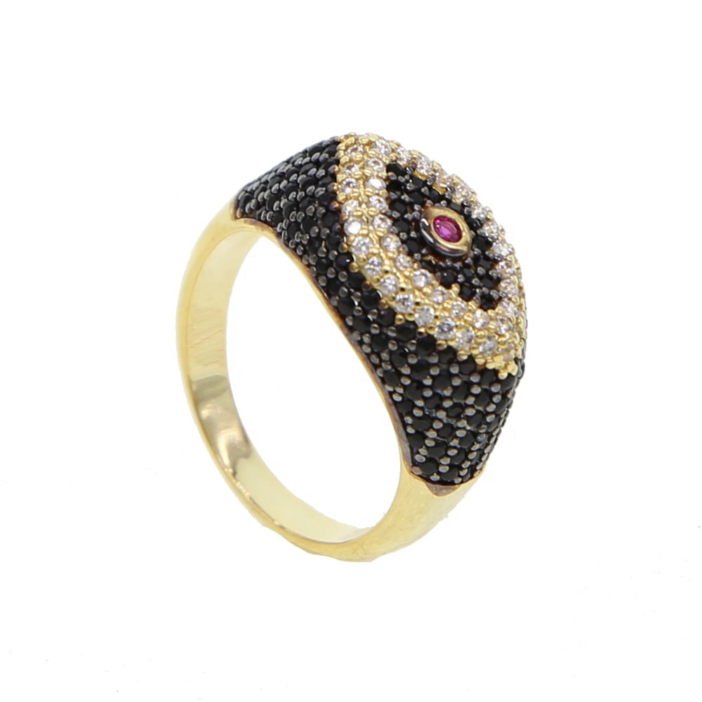 18K Gold Plated Nuran Evil Eye Ring