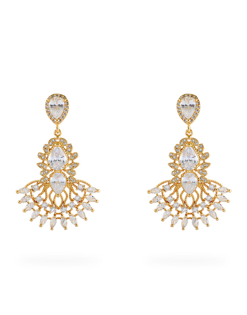18K Yellow Gold Plated Jasmine Earrings