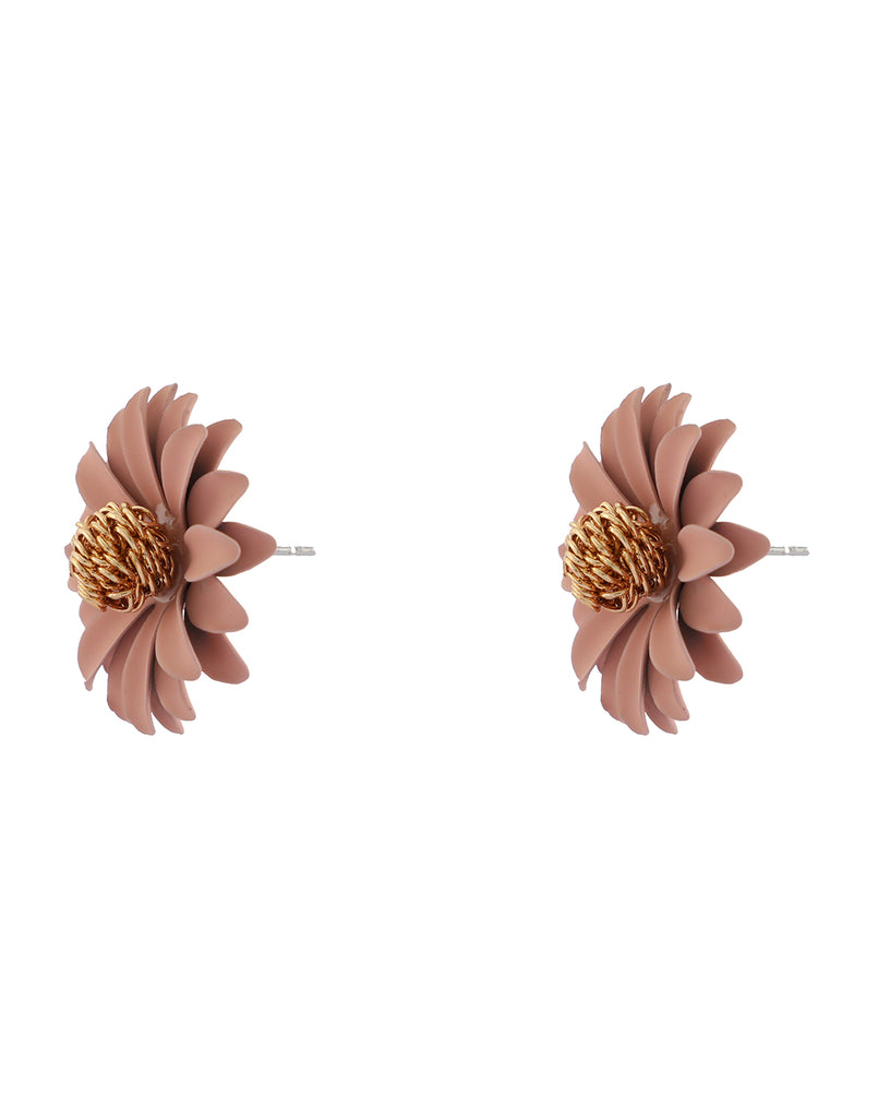 "Peach ""Fleur"" Earrings"