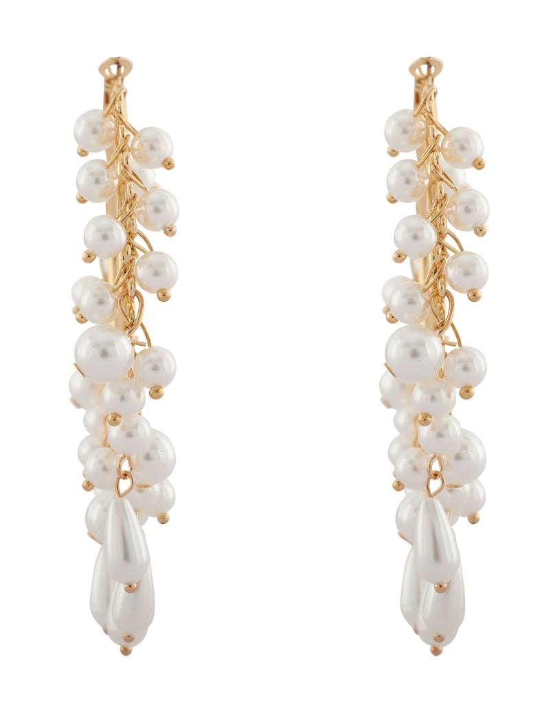 Pearl Maharani Hoop Earrings