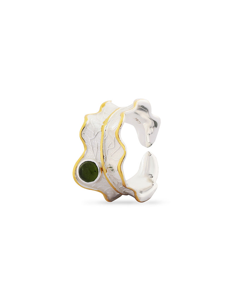 Green Tourmaline Luna Ring