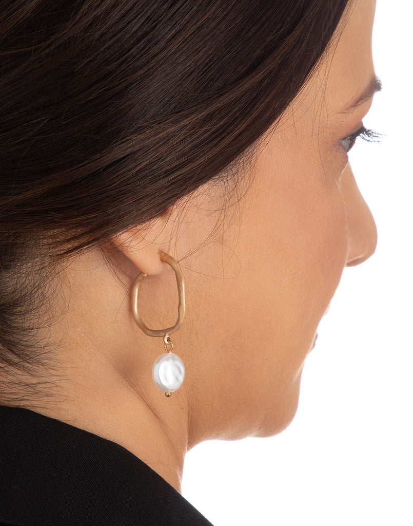 Gold Sassy Hoop Earrings