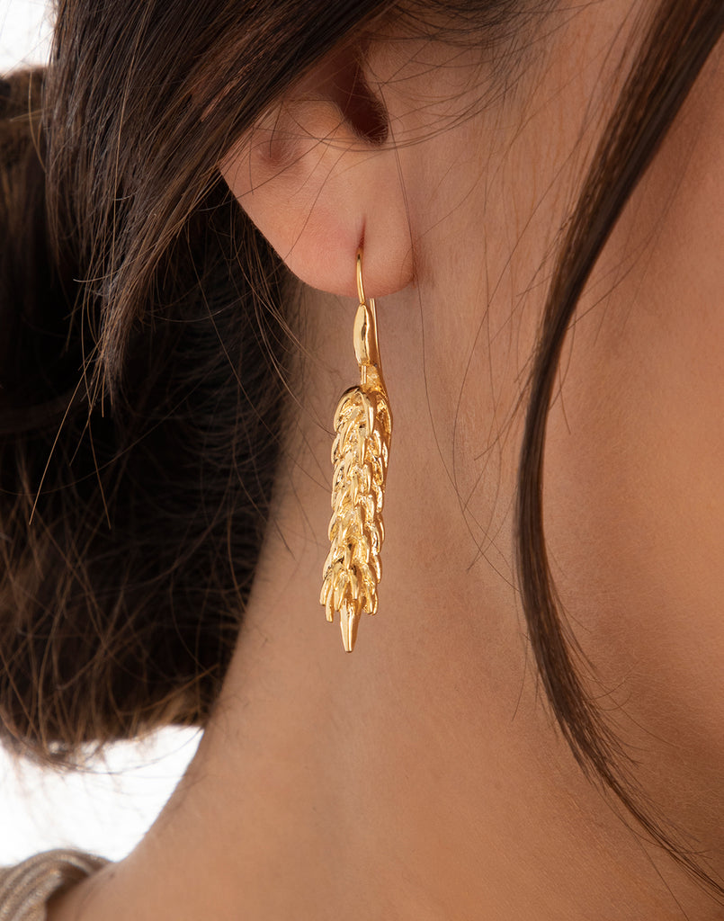 Gold Rowan Earrings