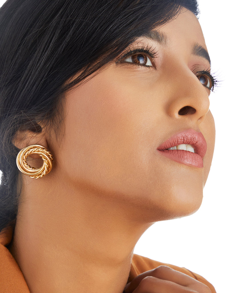 Golden Spiral Earrings