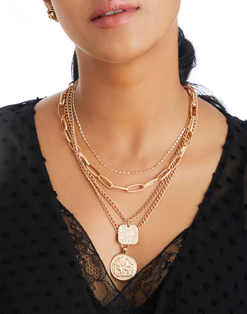Gold Enchanted Layer Necklace