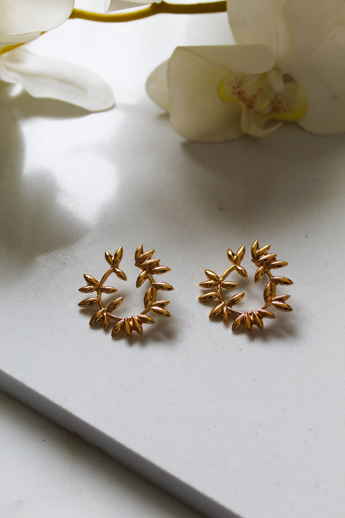 Crown Of Leaves Earrings